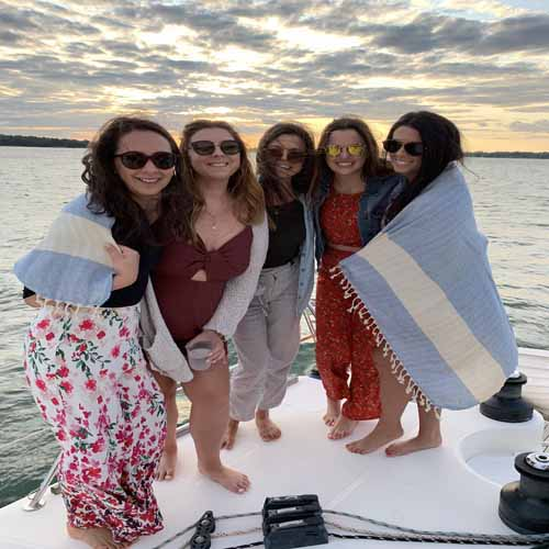 bachelorette boat party rental in The Hamptons - out East