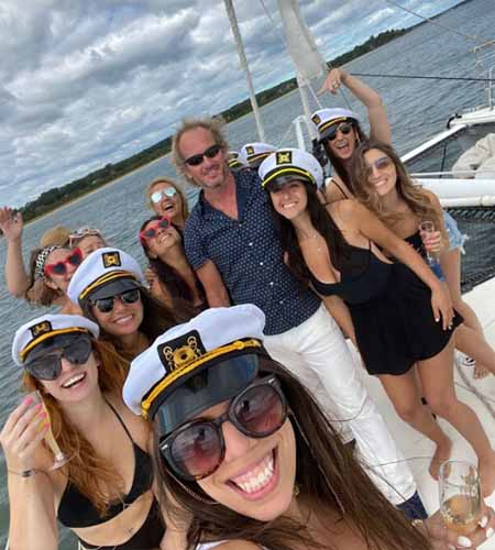 bachelorette boat party Valkyrie Sailing Catamaran