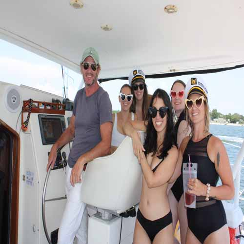 Captain paul bachelorettes in Miami Biscayne Bay aboard valkyrie sailing charters