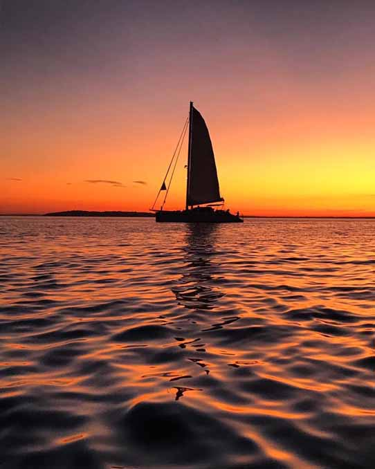 Valkyrie Charter yacht Sailing Sunset Sag Harbor