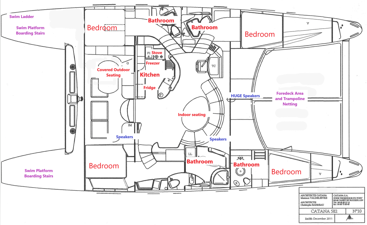 Valkyrie Catamaran Interior Layout